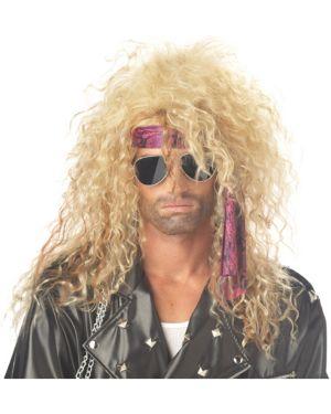 Men's Blonde Heavy Metal Rocker Wig