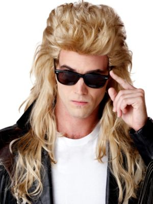 Womens 80's Rock Mullet Wig