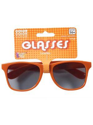 Orange Oversized Glasses