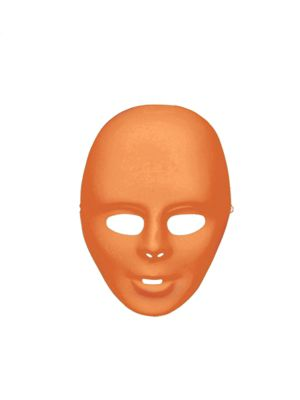 Orange Adult Face Mask