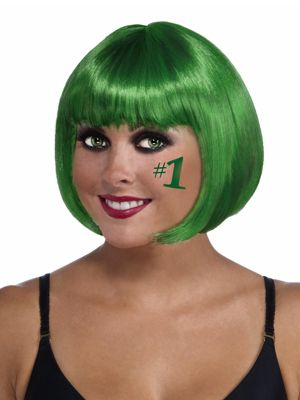 Adult Bob Green Wig