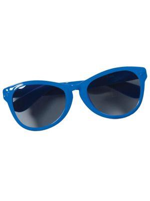 Blue Oversized Glasses