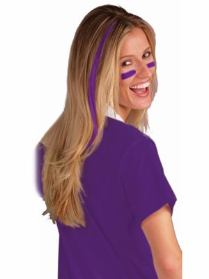 Purple Clip In Hair Extensions