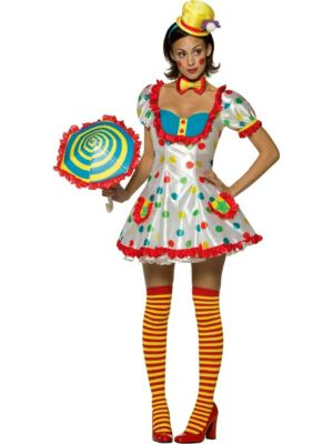 Colorful Clown Costume for Women