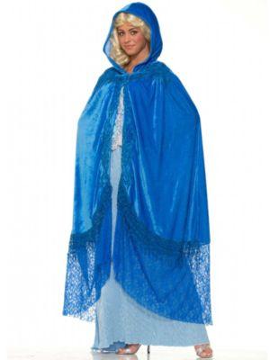 Adult Medieval Fantasy Sapphire Cape Costume