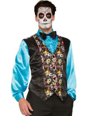 Adult Day of the Dead Vest Costume