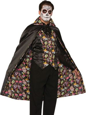 Adult Day of the Dead Cape Costume
