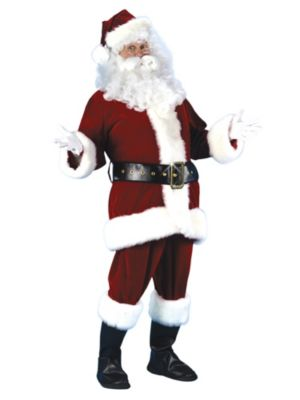 Plus Size Professional Quality Ultra Velvet Santa Suit Xxl Costume