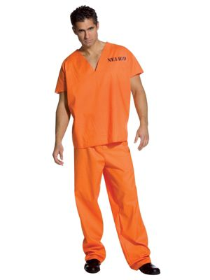 Jailhouse Jumpsuit Costume for Adult