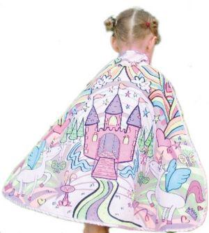 GIRLS REVERSIBLE COLOR-A-PRINCESS CAPE