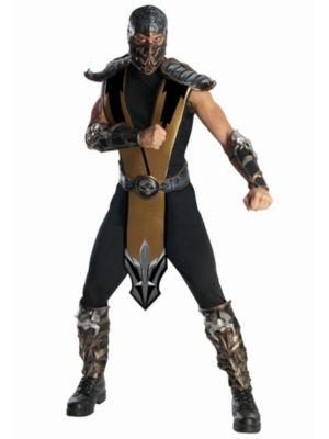 Adult Deluxe Mortal Kombat Scorpion Costume