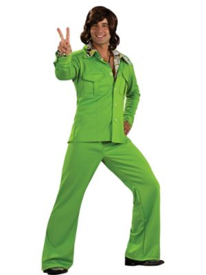 Lime Leisure Suit Mens Costume