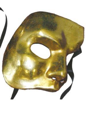 Mask - Gold Antiqued Phantom