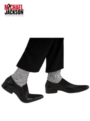 Silver Michael Jackson Socks