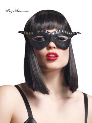 Studded Black Cat Mask