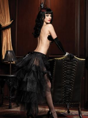 Sexy Adult Long Tulle Bustle Skirt