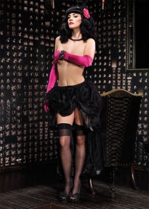Sexy Adult Black Chiffon Skirt