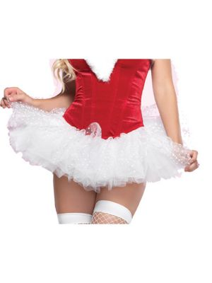 White Polka Dot Adult Tulle Tutu