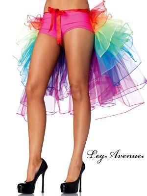 Adult Sexy Layered organza rainbow bustle