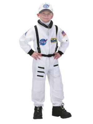 Child Deluxe White Nasa Junior Astronaut Suit Costume
