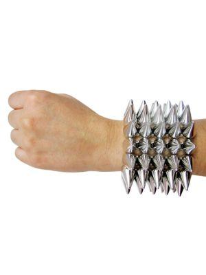 Spike Silver Elastic Bracelet