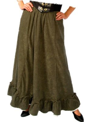 Adult Green Renaissance Peasant Skirt