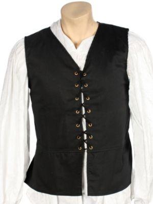 Adult Renaissance Black Vest