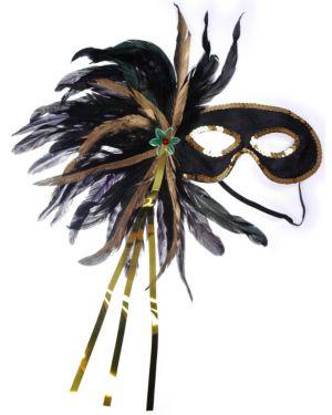 Mardi Gras Black Cocktail Mask