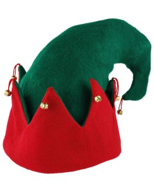 Red and Green Elf Hat