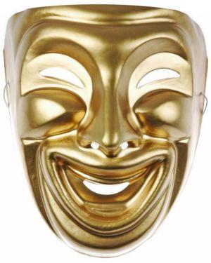 Deluxe Plastic Comedy Mardi Gras Mask