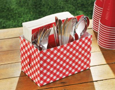 Party Utensil Caddy Picnic Party Cardboard Utensil