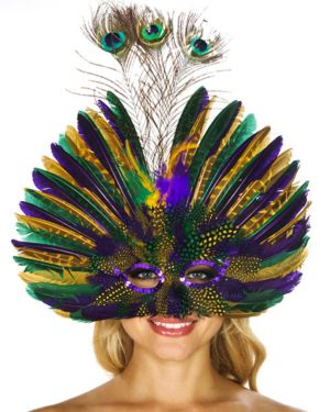Mardi Gras Peacock Feather Mask