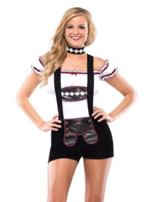 Adult Busty Lederhosen Beer Girl Costume