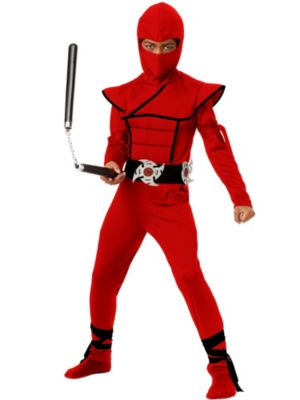 Child Stealth Ninja Red Costume