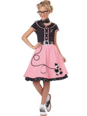 Girl's Pink 50's Sweetheart Costume