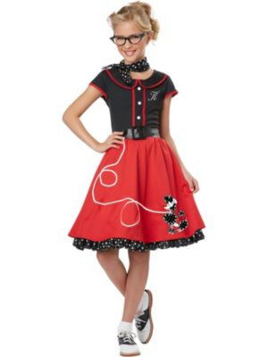 Girl's Red 50's Sweetheart Costume