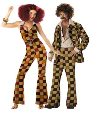 Adult Boogie Babe Couples Costume