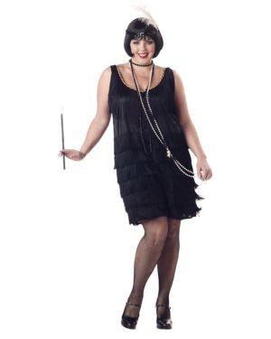 Adult Plus Size Fashion Flapper Costume