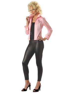 Womens Grease Pink Ladies Jacket