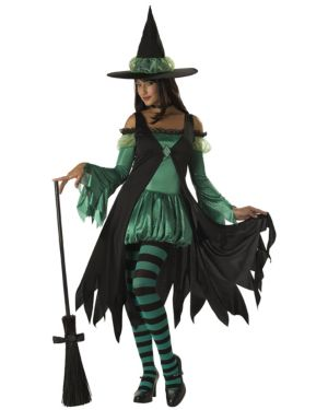 Emerald Witch Womens Costume