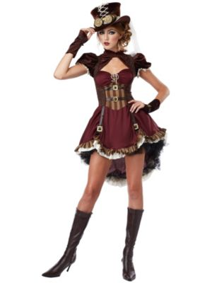 Sexy Adult Steampunk Girl Costume