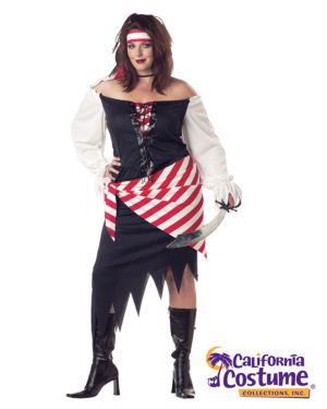 Adult Plus Ruby, The Pirate Beauty Costume