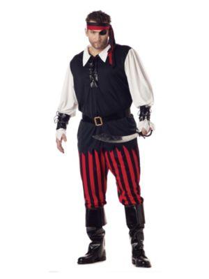 Adult Cutthroat Pirate Plus Costume