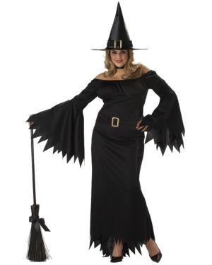 Adult Plus Elegant Witch Womens Costume