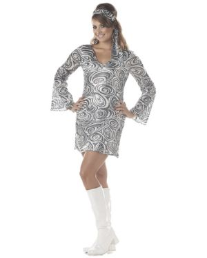 Adult Plus Disco Diva Costume