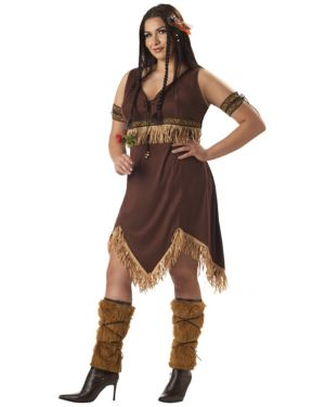Adult Plus Indian Princess Costume