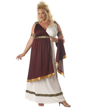 Adult Plus Roman Empress Costume