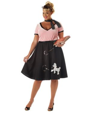 50's Sweetheart Womens Plus Costume