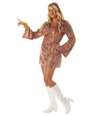 Disco Dolly Womens Plus Costume