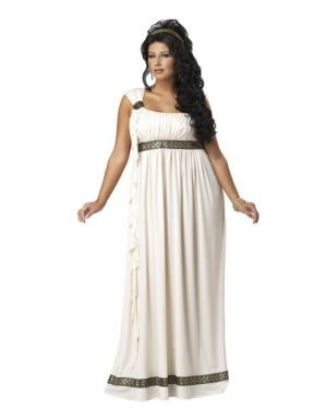 Adult Plus Size Olympic Goddess Costume